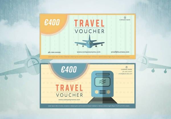 travel vouchers example