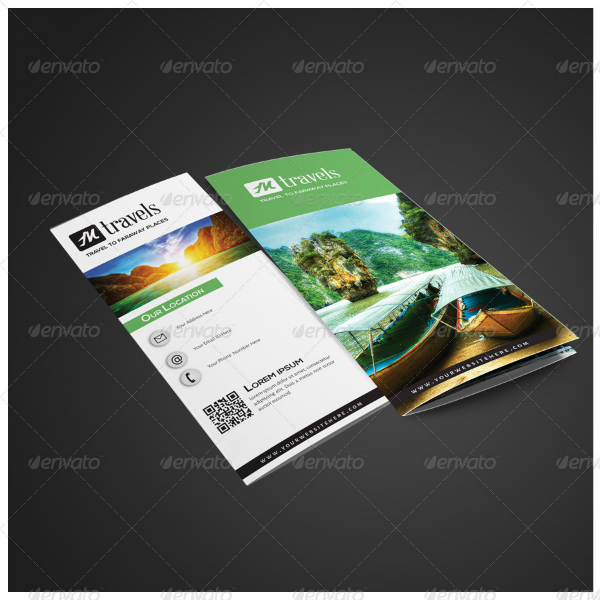 Travels Agency Tri-Fold Brochure Template