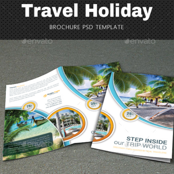 Tropical Travel Holiday Brochure Template