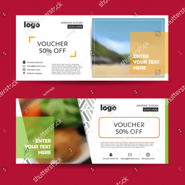 Vacation Hotel Voucher Card Template