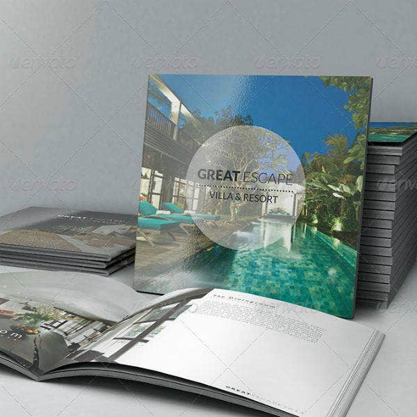 villas and resort square brochure template1