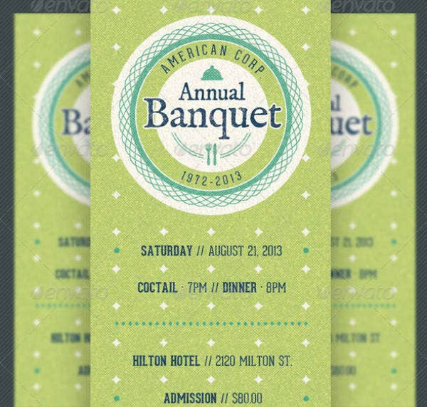 Vintage Annual Banquet Ticket Template