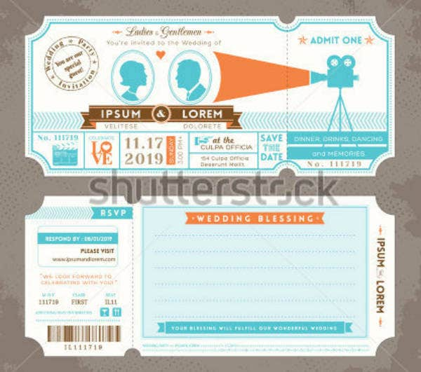 Vintage Event Movie Ticket Template