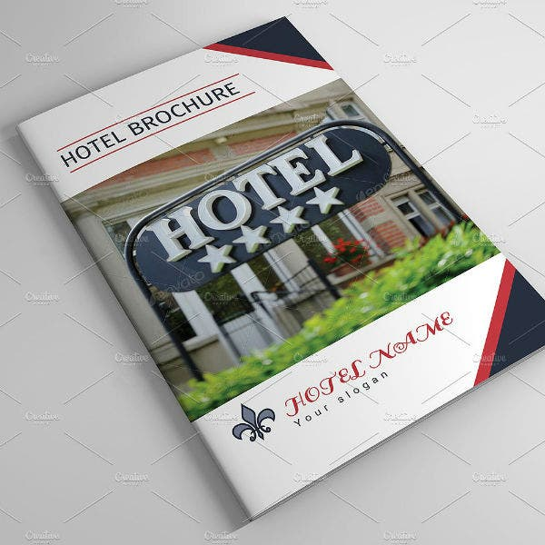 vintage style hotel brochure template