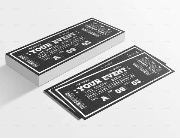 Vintage Theme Ticket Template