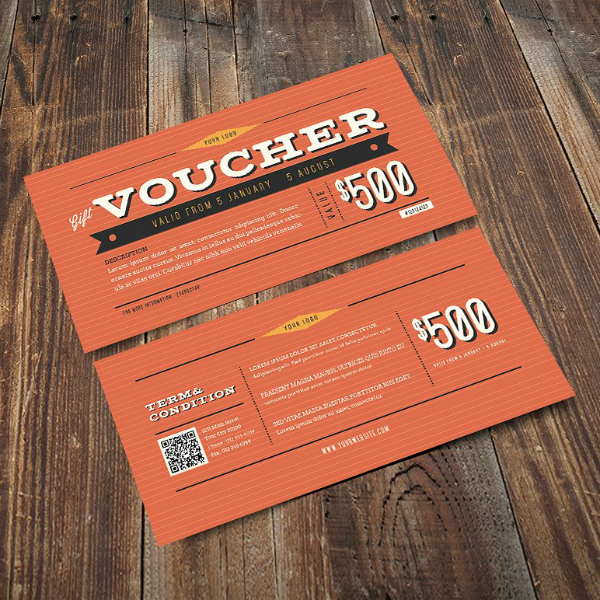 Vintage Themed Gift Voucher Template