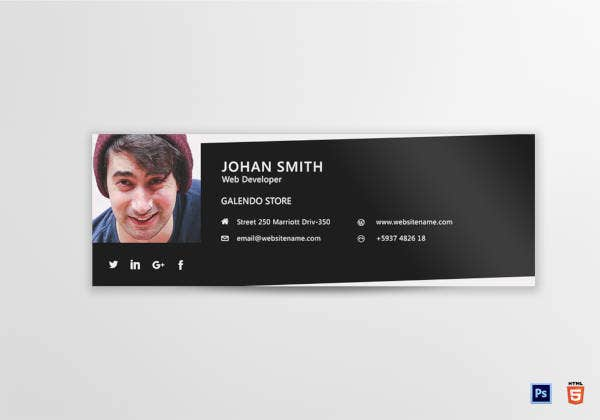 Web Developer Email Signature Template
