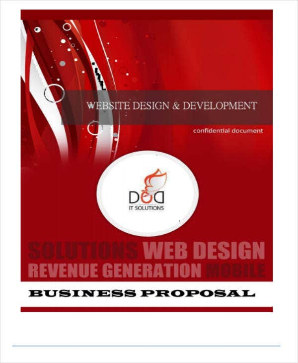 website design development business proposal