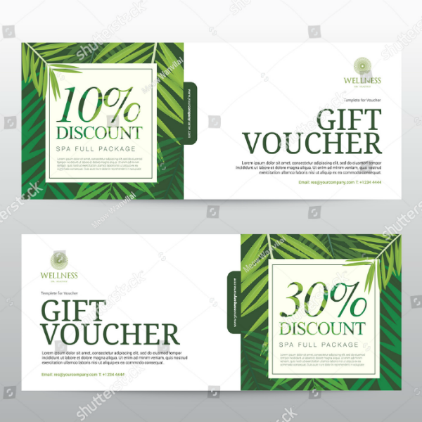Wellness Hotel Discount Voucher Template
