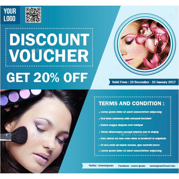 wellness resort gift voucher indd template
