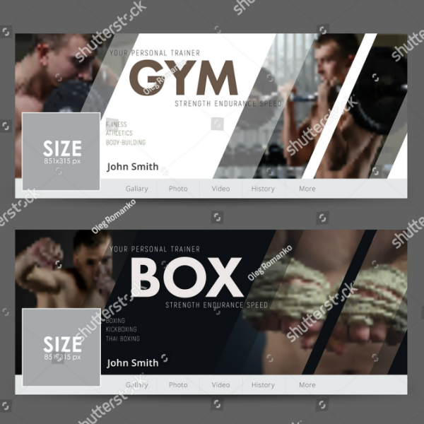 White Black Gym Cover Template
