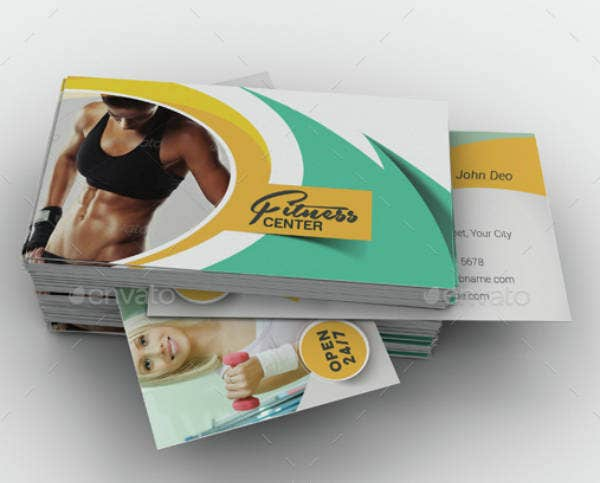 Yoga Fitness Business Card Template