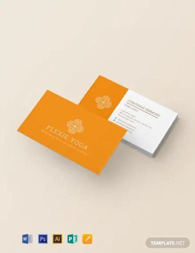yoga instructor business card template1