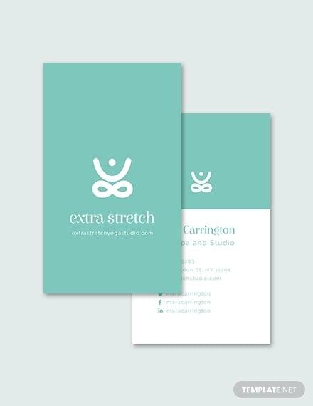 yoga studio business card