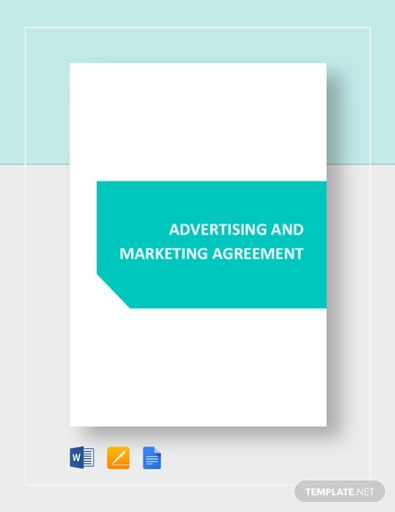 advertising and marketing agreement