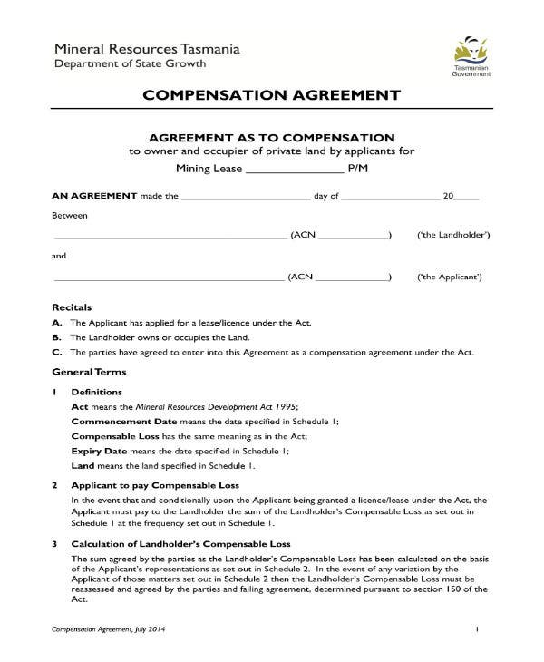 compensation agreement 2014 1