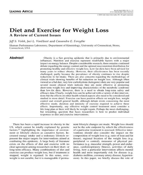 diet and exercise 1