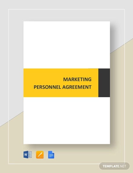 marketing personnel agreement