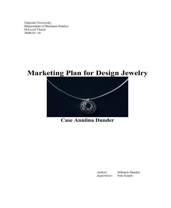 marketing plan for design jewelry 01