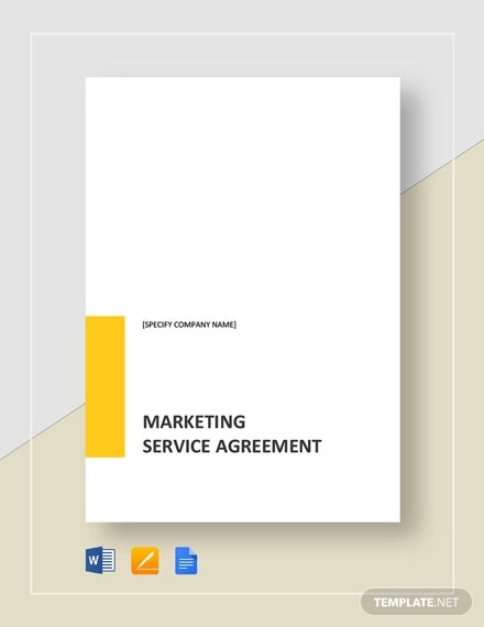 marketing service agreement