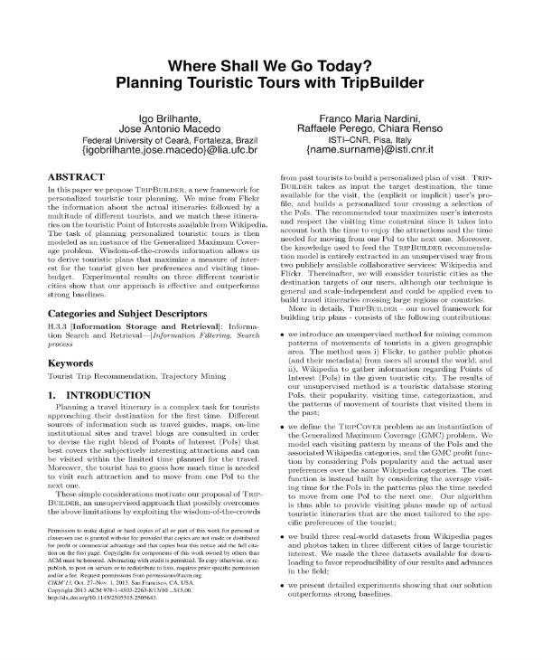 planning touristic tours 1