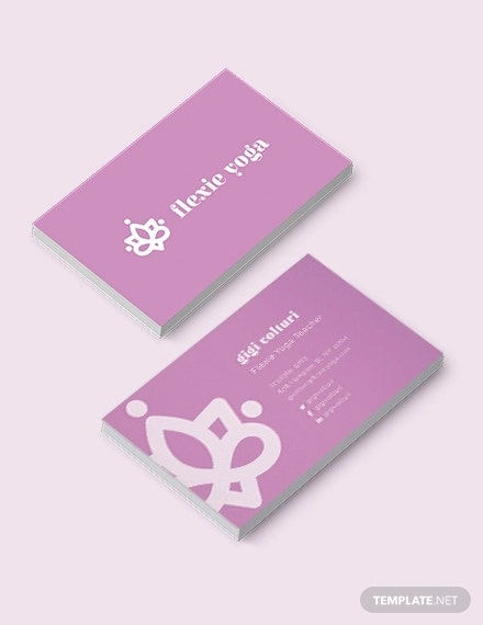 yoga teacher business card