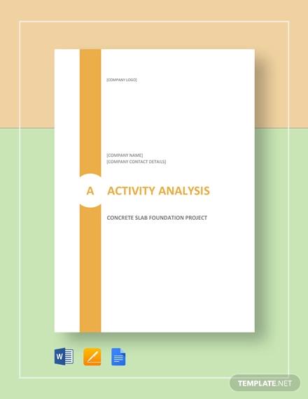 activity analysis template