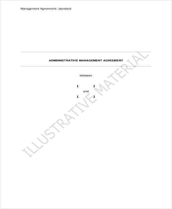 administrative management agreement contract