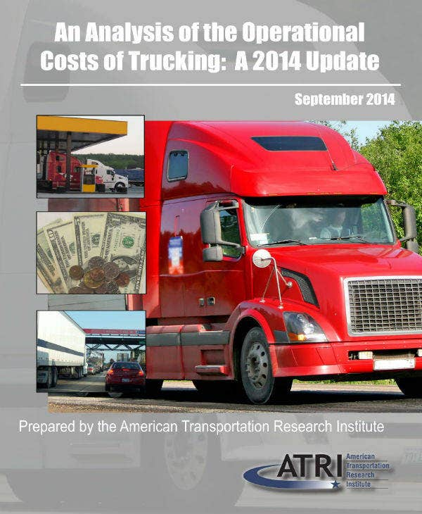 analysis of costs of trucking