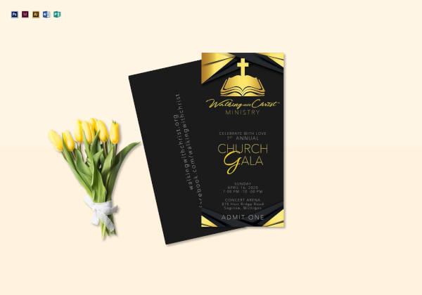 Annual Church Gala Ticket Template