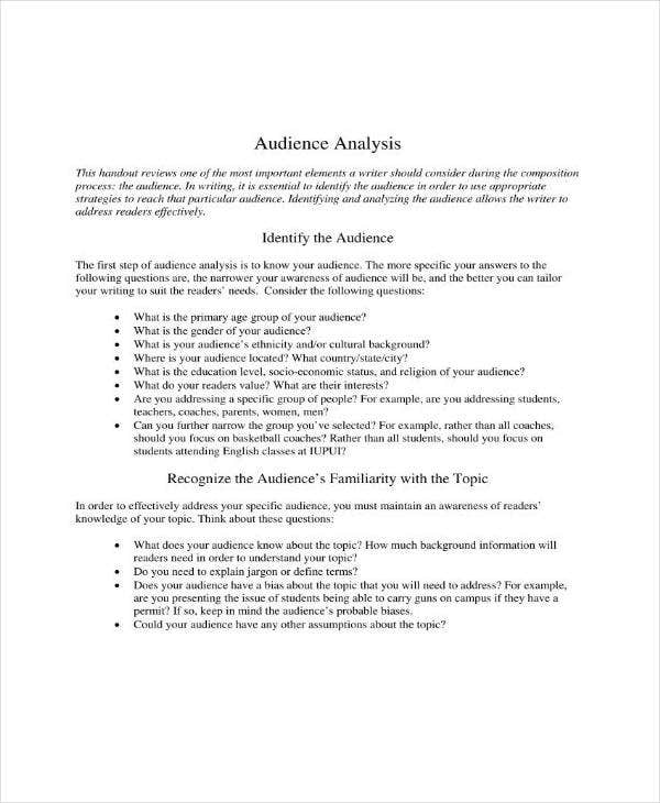 audience analysis guide