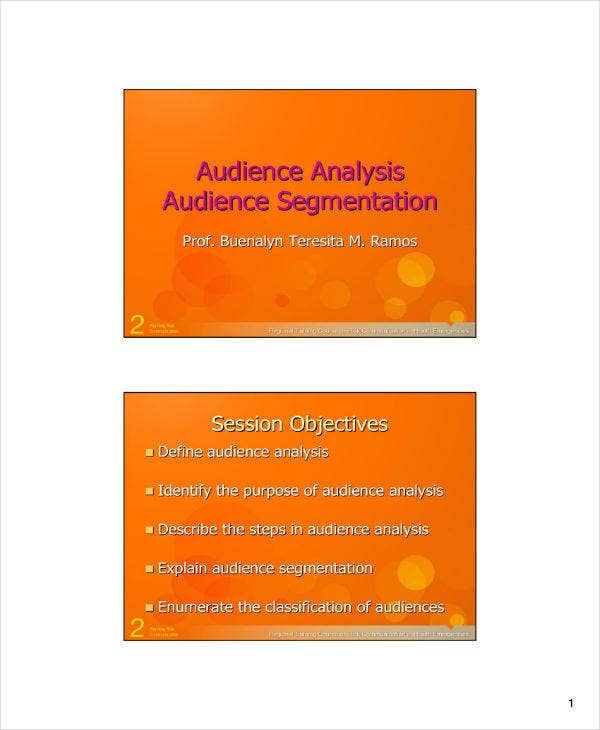 Audience Analysis Module Example