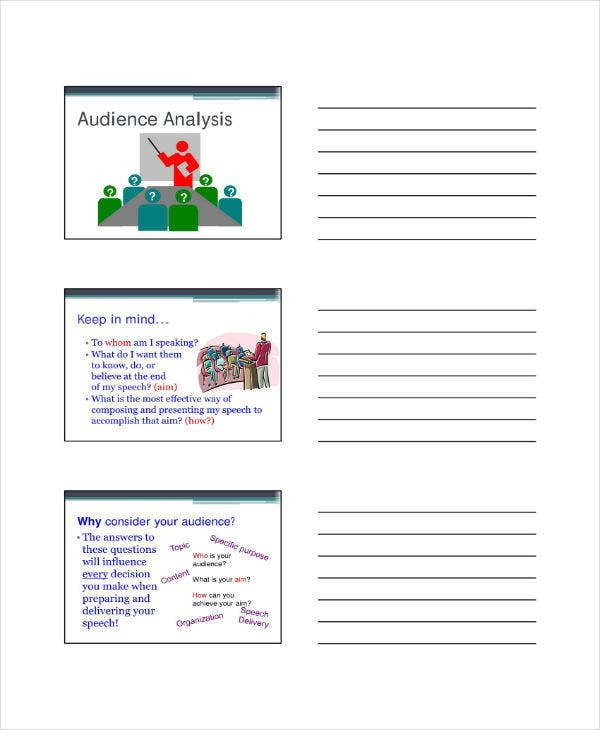 speech analysis template