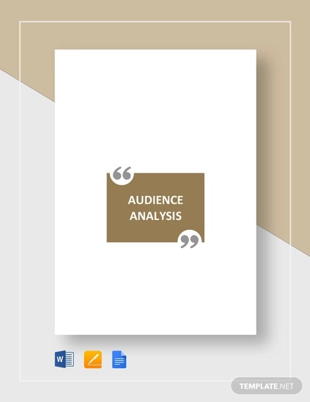 audience analysis template1
