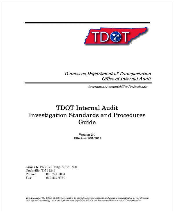 Audit Investigation Report Guide