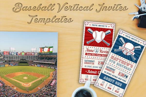 Baseball Ticket Event Invitation Template