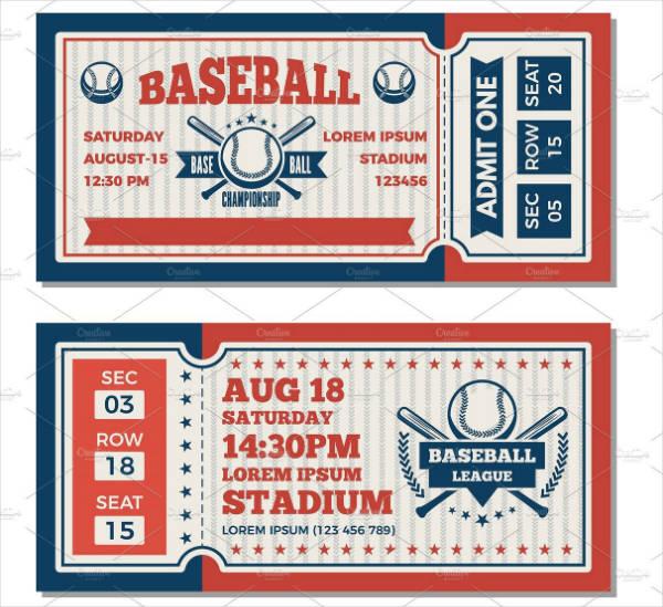 Baseball Tournament Ticket Invitation