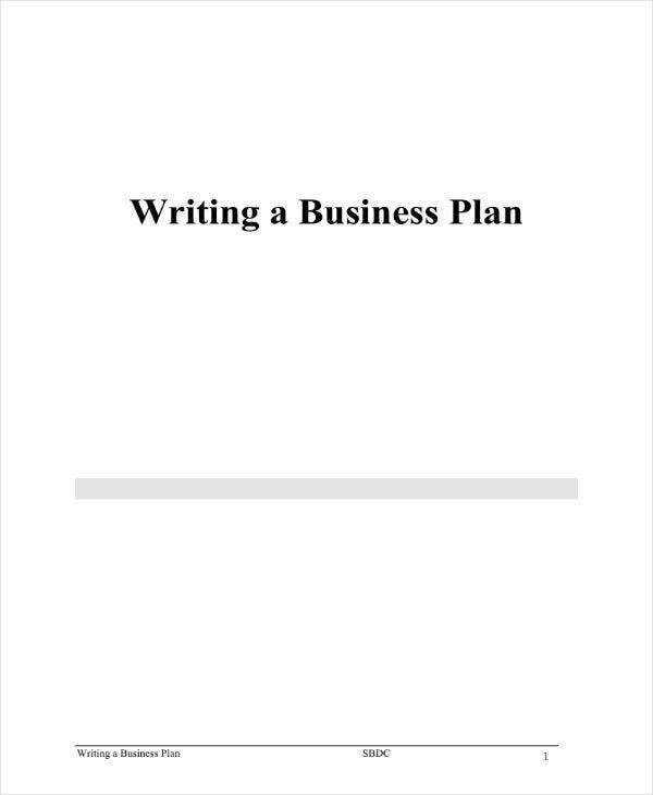 Business Plan Outline Example