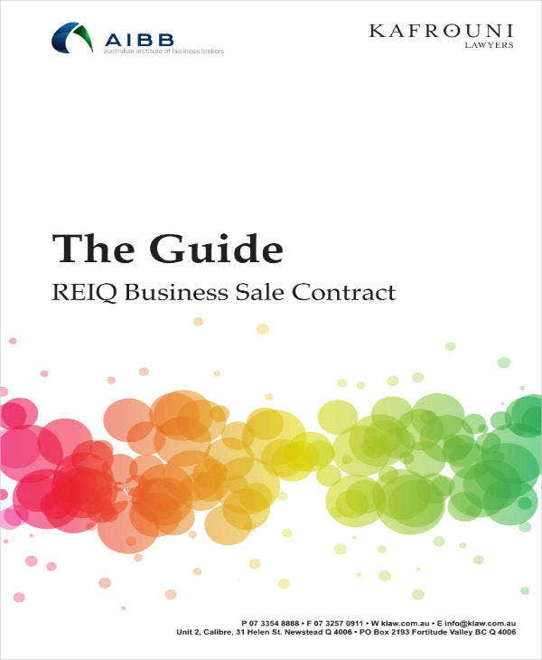 business sale contract guide