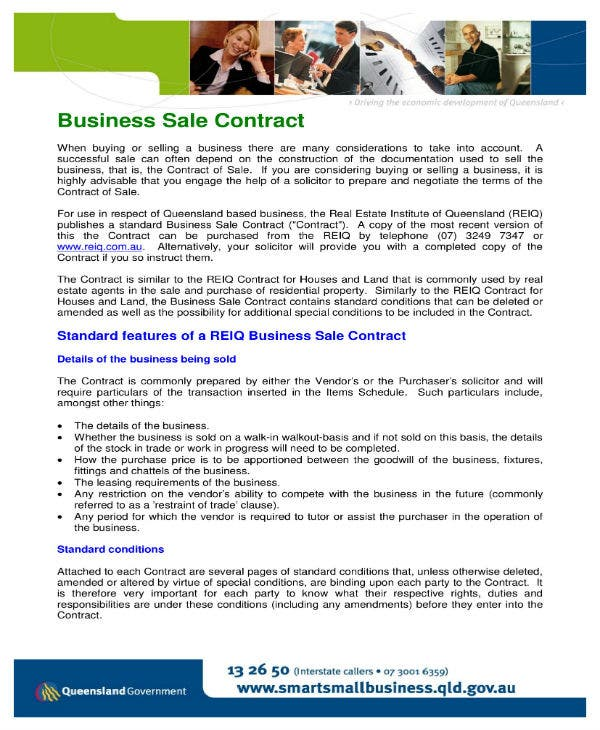 9 Business Sale Contract Templates Docs Word Pages Free Premium Templates