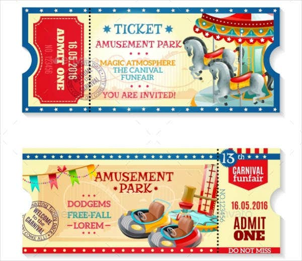 Carnival Fun Fair Ticket Invitation