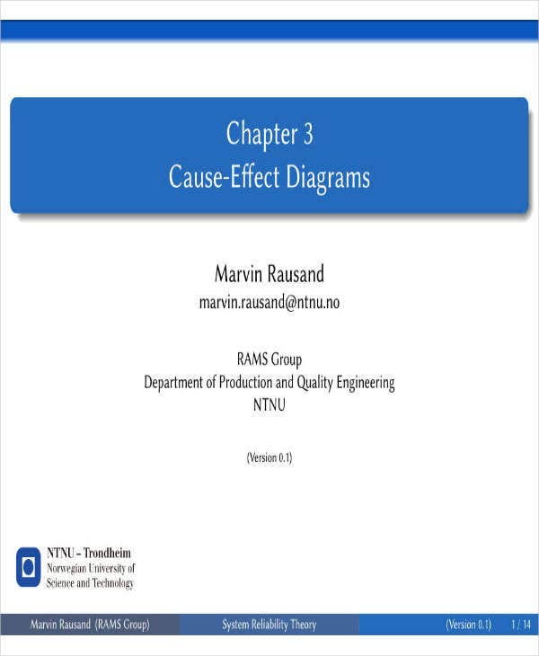 Cause-Effect Diagram Analysis