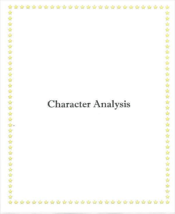 Character Analysis Example
