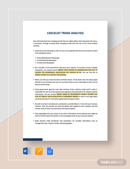 checklist trend analysis template1