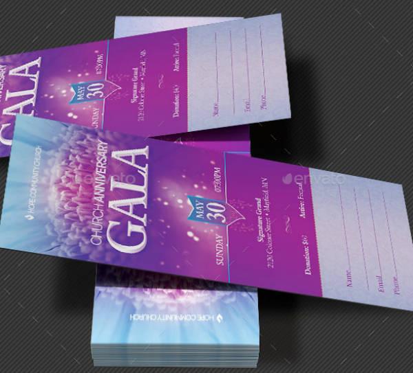 Church Celebration Gala Ticket Template