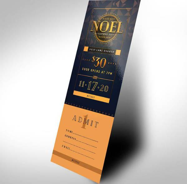 Church Christmas Gala Ticket Template