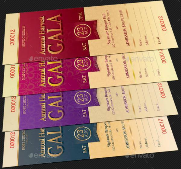 Church Harvest Gala Ticket Template