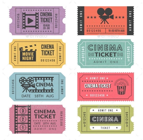 cinema ticket templates