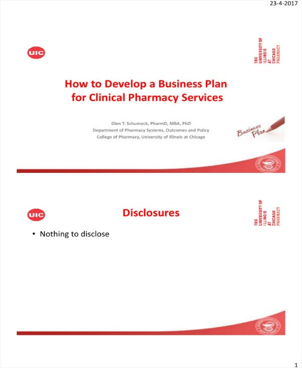 clinical pharmacy business plan