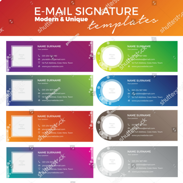 Colorful Multipurpose Email Signature Template